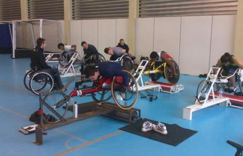 wheelchair roller session